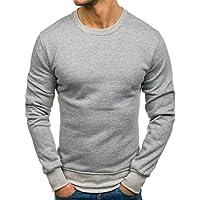Yvelands Liquidación Moda Ropa Camisas Sudadera Casual de Color Sólido Slim Fit Top Blusa Chándales Chándales Camisas de Manga Larga, ¡Caliente!