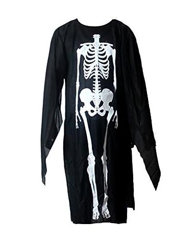 Smile YKK Skelett Druck Cosplay Kostüm Halloween Bekleidung Langarm Erwachsene (Nicht Grund Halloween Kostüme)