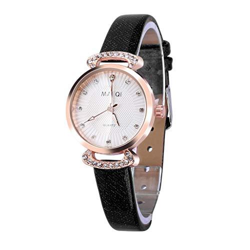 Yallylunn Fashion Embossed Sun Veins Dial Flat Glass Temperament Leather Belt Lady Watch Elegantes Und Exquisites es Zifferblatt Mit Lederband