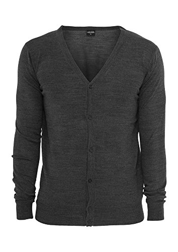 Urban Classics TB405 Knitted Cardigan Uomo Regular Fit (Charcoal, M)