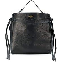 Prada 1bc056013f0002 Shopping Pelle Donna Borsa Nero qZrqHU
