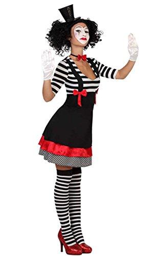 Clown Kostüm Harlekin Pantomime Kleid, Größe (Kostüm Süßes Clown)