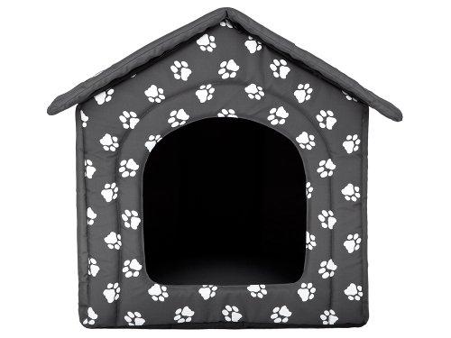 Hundehöhle mit Pfoten Katzenhöhle Hundehütte Hundebett Katzenbett Hundehaus S-XL (XL 60x55cm) - 2