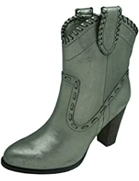 Buffalo London 411-10173 Leather Metallic PU 152400 Damen Westernstiefel Cowboystiefel, Gold (Gold 73), EU 36