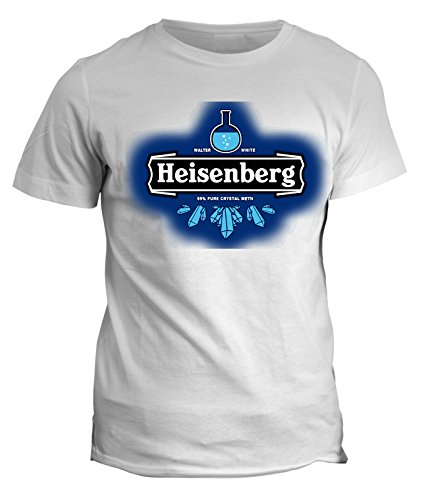 Tshirt breaking bad - heisenberg walter white beer birra meth - serie tv telefilm - in cotone by fashwork