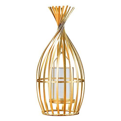 Bougeoirs Les d'or Repassent, Décoratif De Table Basse De Chandelier pour Le Salon/Salle À Manger, Cadeaux De Mariage/d'anniversaire