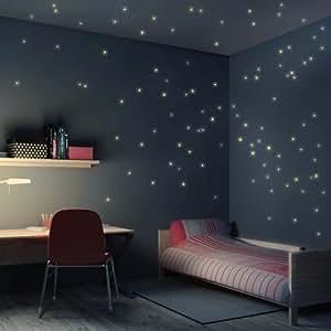 Wandtattoo sternenhimmel 100er set leuchtsterne leuchtend kinderzimmer schlafzimmer - Amazon kinderzimmer ...