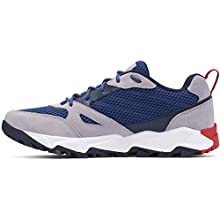 Columbia Men's IVO Trail Breeze Walking Shoe, Blue (Carbon, Rust Red 469), 10 (44 EU)
