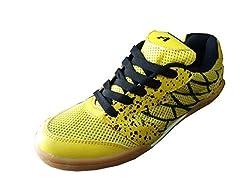 Aadix Mens Non Marking Badminton Yellow Shoes (6 UK/IND)