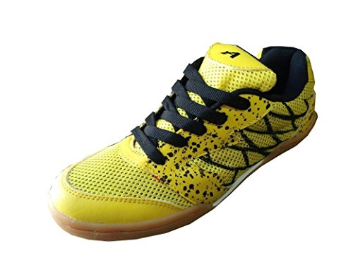 Aadix Non Marking Badminton yellow Shoes
