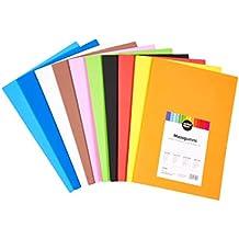 perfect ideaz 30 hojas gomaespuma de colores, DIN-A4, 10 colores diferentes,
