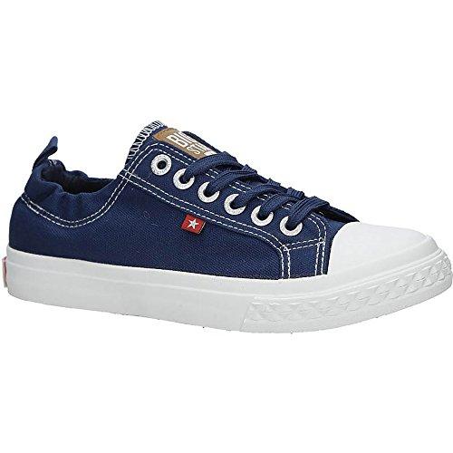 Big Star Aa274A03 Sneaker | Bequeme Sportschuhe für Damen | Low Top Turnschuh Textil Sport Schuhe EUR 36-41 - Blau - EUR 38 Big Star Schuhe