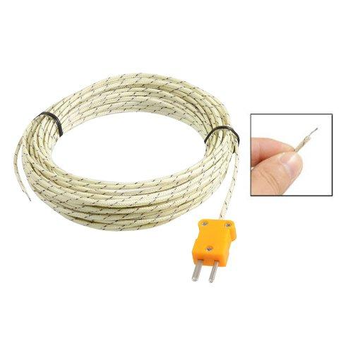 SODIAL(R) -50-250 Celsius K Type Cable 10M Capteur de temperature sonde de Thermocouple