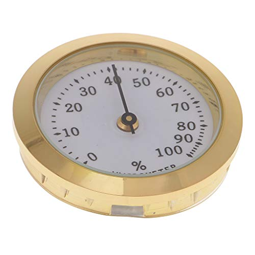 Scopri offerta per Igrometro Sigaro Umidificatore Professionale Design Elegante e Moderno. - d'oro, 36 millimetri