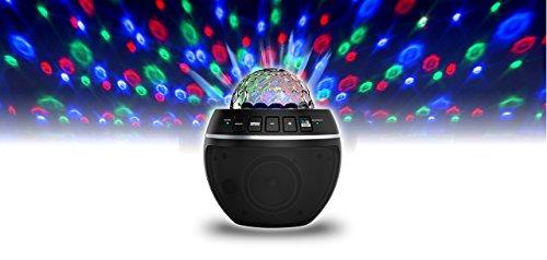 iDance BB10M Party Ball Musikanlage Discokugel LED-Lichteffekt rotierend Mini-Sound-System mit Bluetooth-Lautsprecher (Strobe Light Bluetooth-lautsprecher)