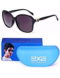 Edge Over Sized Oval Shape Cateye Style Sunglasses For Women Girls Ladies With Case