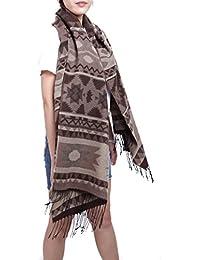 7b81f3848f8b écharpe hiver femme foulard grande taille châle cache-col franges -  plusieurs couleurs