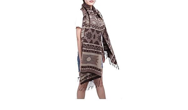 3b432d97741 Subke écharpe hiver femme foulard grande taille châle cache-col franges  beige  Amazon.fr  Vêtements et accessoires