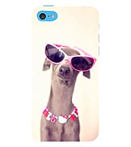 99Sublimation Dog with Specs 3D Hard Polycarbonate Back Case Cover for Apple iPhone 5c