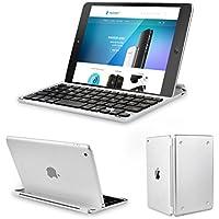 Clavier étui iPad Mini, TeckNet Ultrathin Clavier Sans fil Bluetooth AZERTY magnétique pour Apple iPad Mini 3/2/1, avec la fente multi-angle flexible