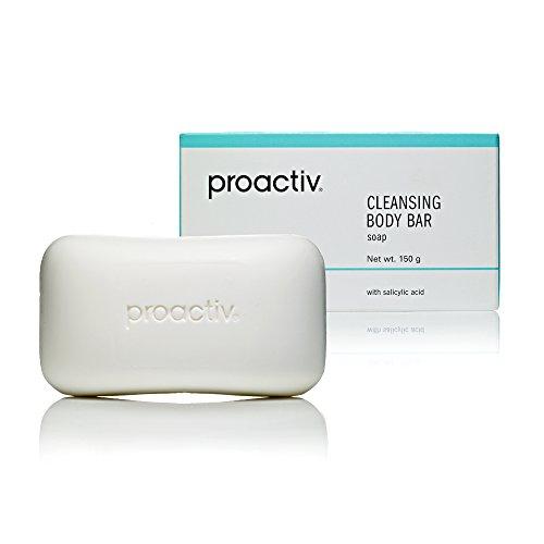 Salicylsäure Seife (Proactiv Cleansing Body Bar – Seifenfreies Waschstück mit Mikro-Peelingkörnern | Entfernt abgestorbene Hautzellen und hartnäckige Hautunreinheiten| 150 gr)