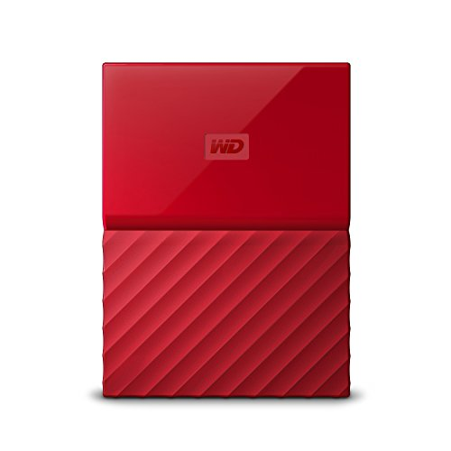 WD My Passport 4TB - Disco duro portátil y software de copia de seguridad automática para PC, Xbox One y PlayStation 4 - rojo