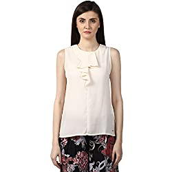 Park Avenue Womens Plain Regular Fit Top (PWAC01336-F5_Medium Fawn_76)