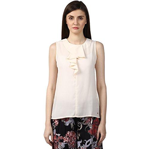 Park Avenue Womens Plain Regular Fit Top (PWAC01336-F5_Medium Fawn_101)