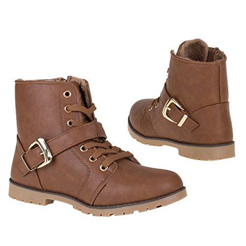 Damen Schuhe, BL22, STIEFELETTEN Braun