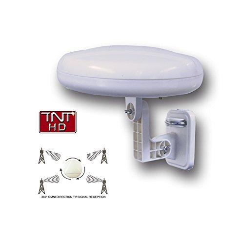 HD-Line HD-920T Antenne Omnidirectionnelle TNT terrestre HD Réception à 360 degrés Blanc