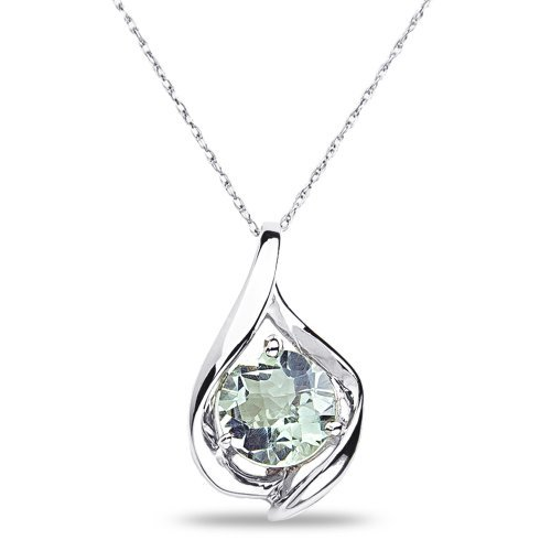 womens-green-amethyst-pendant-complementary-chain-in-10k-white-gold-by-nissoni-jewelry