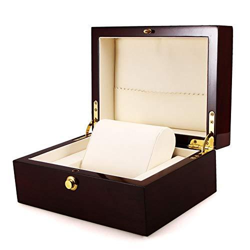 Uhrenbox Luxus Holz Aufbewahrungsbox Aufbewahrungskissen Weinrot