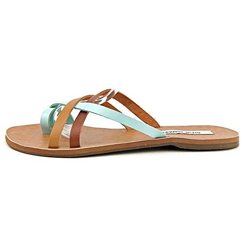 Steve Madden Anabelll Leder Sandale Tan/Multi
