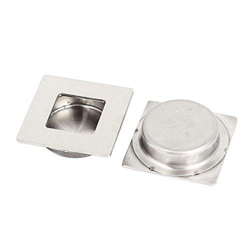 uxcell a15081200ux0084Einbauleuchten Flush Griff Schiebetür Schublade 50mm, quadratisch, Einbauleuchten Flush Pull Griff 2
