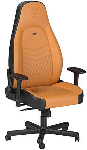noblechairs ICON Gaming Stuhl - Bürostuhl - Schreibtischstuhl - Echtleder - Cognac/Schwarz