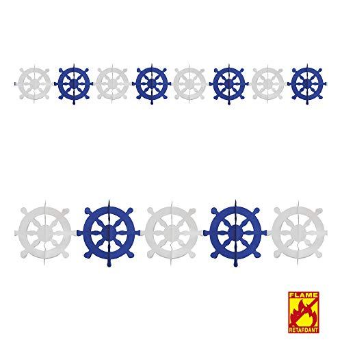 Widmann 2173R Girlande Ruder, Unisex- Erwachsene, Blau/Weiß,