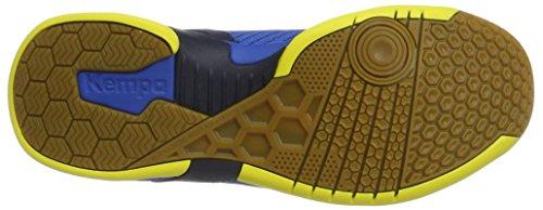 Kempa Attack Three, Chaussures De Handball Adulte Bleu Unisexe (bleu Profond / Jaune Citron)