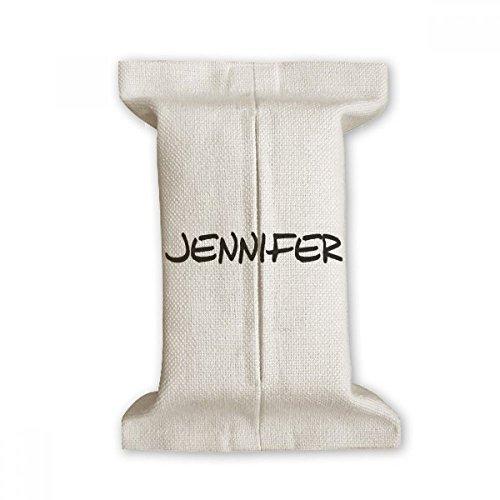 DIYthinker Spezielle Handschrift Englischer Name Jennifer Seidenpapier-Abdeckung Baumwollleinenhalter Aufbewahrungsbehälter Geschenk 17x27cm Mehrfarbig 8