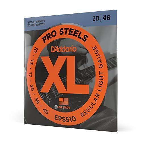 D'Addario EPS510 - Juego de cuerdas para guitarra eléctrica de acero, 010'...