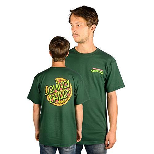 Santa Cruz x TMNT T-Shirt Pizza Dot (Forest Green) M (Santa-t-shirt)
