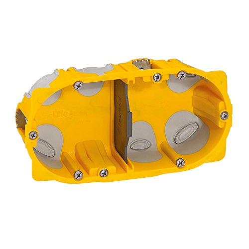 Legrand 090509 Boîte à encastrer Ecobatibox 2 postes, Jaune