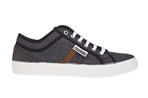 Kawasaki Unisex-Erwachsene Country Washed Sneaker BLACK/ BROWN/GR