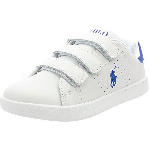 Polo Ralph Lauren White Leather Royal Quilton Sneaker Pelle Bianco