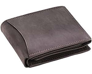 Goudsmid® Ledergeldbörse Geldbeutel Geldbörse Portemonnaie Ledergeldbeutel Brieftasche Leder Herren (Braun 2 (2cm))