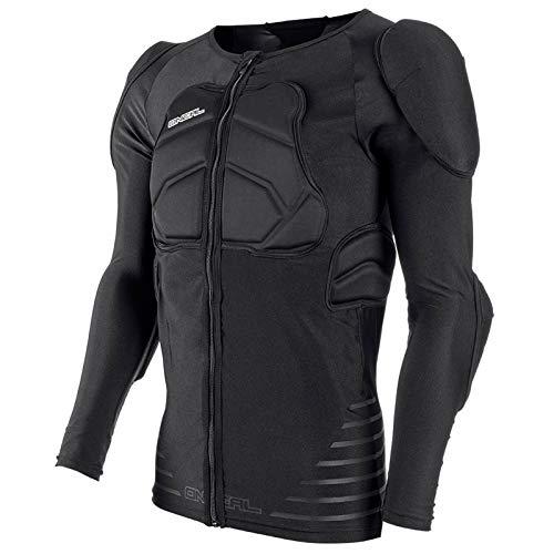 O'Neal STV Long Sleeve Protektor Shirt Schwarz Langarm Motocross DH FR MTB Reißverschluss Schutz, 0280-20, Größe S
