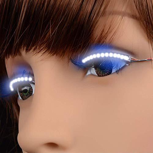 PerGrate LED Wimpern Wasserdicht Interaktive Wimpern Glänzende Augenlid Band für Party Nightclub KTV Halloween