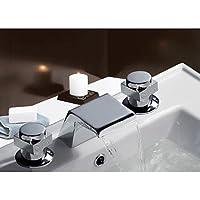 due maniglie cromate diffuso rubinetto cascata lavello (m-6.026.001)