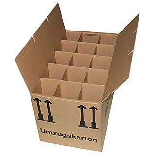 5 Gläserkartons Flaschenkartons Umzugskartons Geschirrkarton 2-Wellig 15 Fächer von A&G-heute