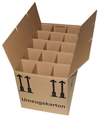 5 Gläserkartons Flaschenkartons Umzugskartons Geschirrkarton 2-Wellig 15 Fächer von A&G-heute thumbnail