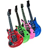 2x Color Aleatorio De Guitarra Inflable Para Fiesta Rock N Roll Regalo De Ninos